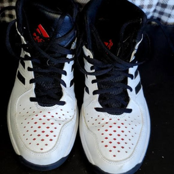 Men's Size 9 Black and White Adidas Athletic Shoes